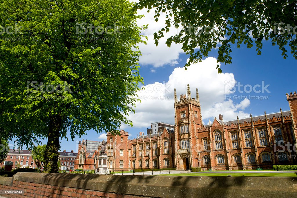 Queens University Belfast, Northern Ireland in a sunny day stock photo