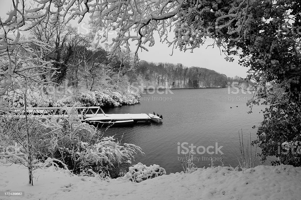 Queen's Valley Reservoir, Jersey. royalty-free stock photo