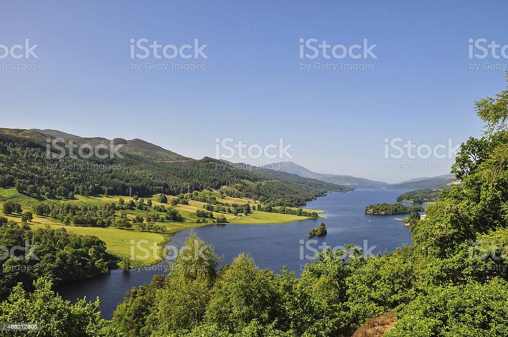 Queen's View at Loch Tummel - Scotland, UK stock photo