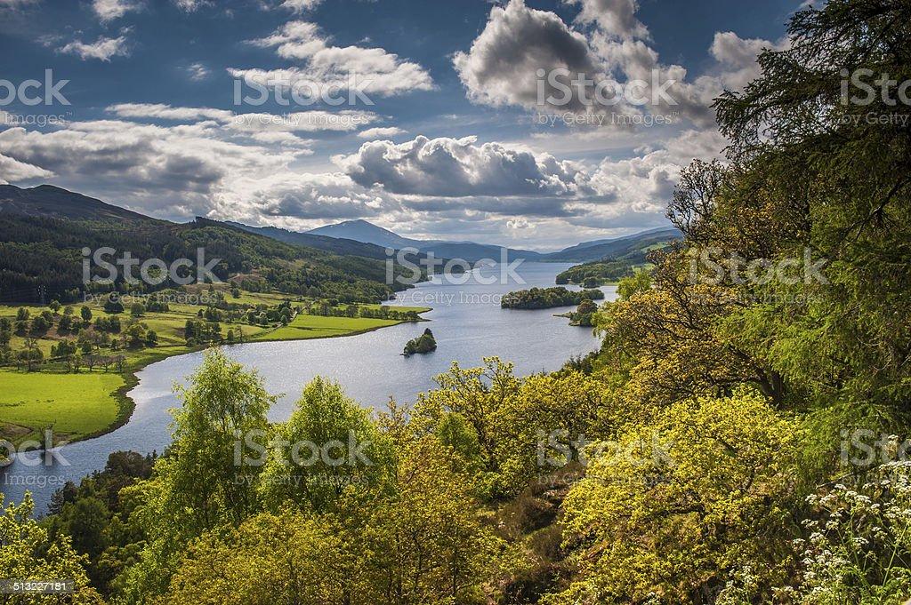 Queens View, Loch Tummel stock photo