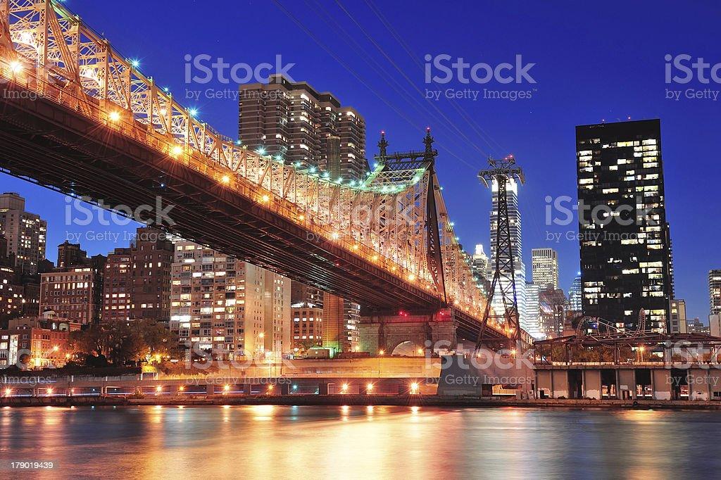 Queensboro Bridge and Manhattan royalty-free stock photo