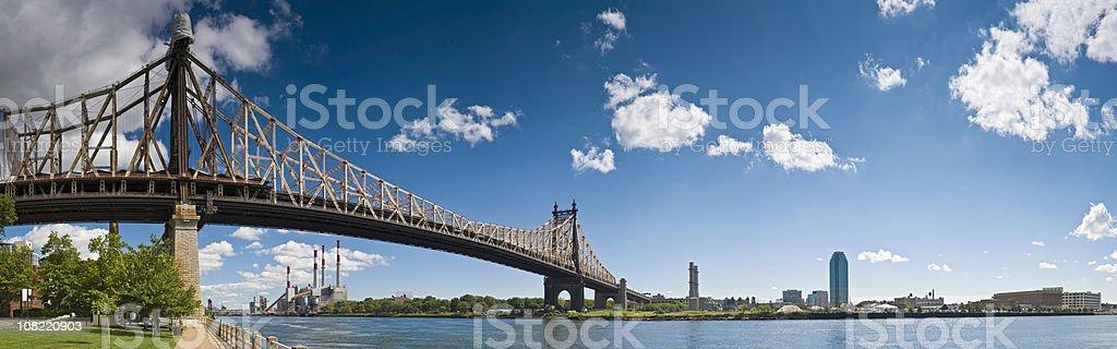 Queensboro Bridge East River Manhattan Queens Roosevelt Island New York royalty-free stock photo
