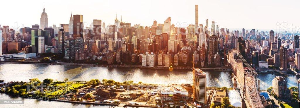 Queensboro Bridge over the East River in New York City stock photo