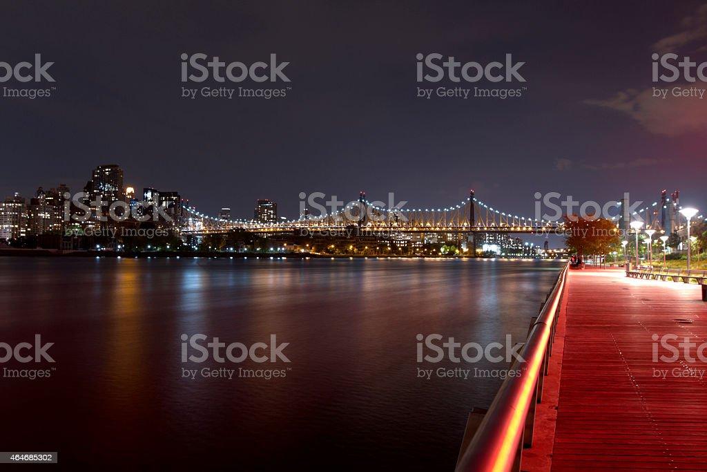 Queensboro Bridge seen from LIC stock photo