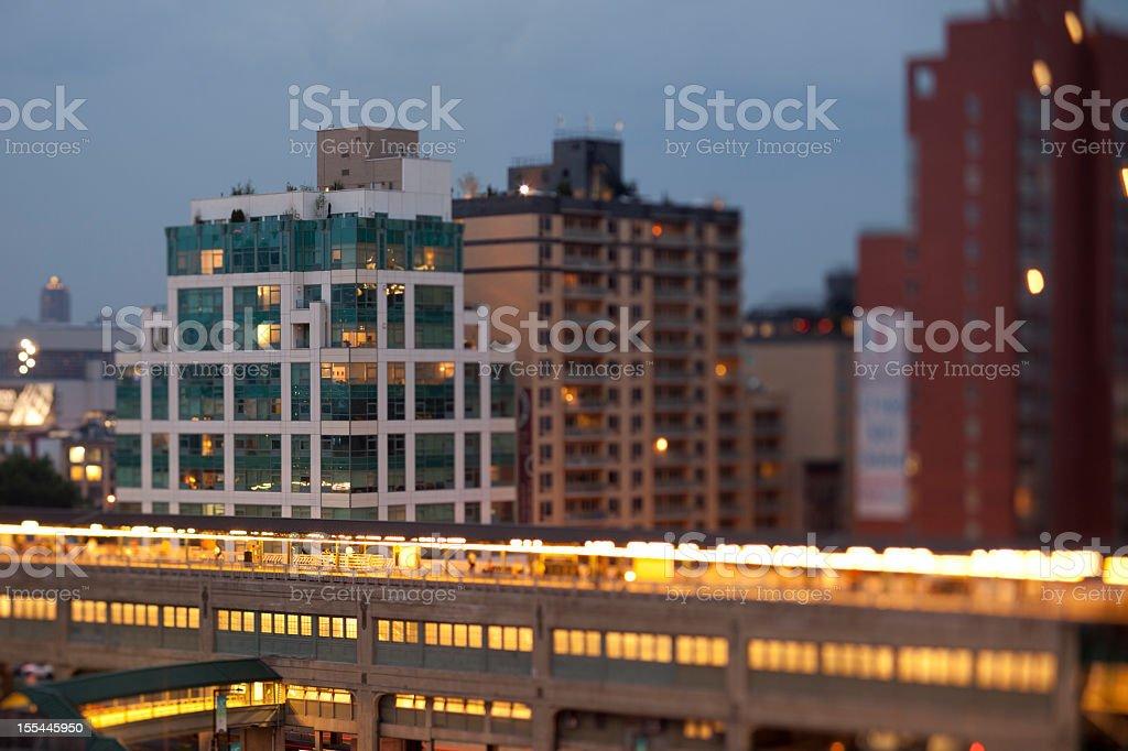 Queensboro Plaza in Long Island City Queens stock photo