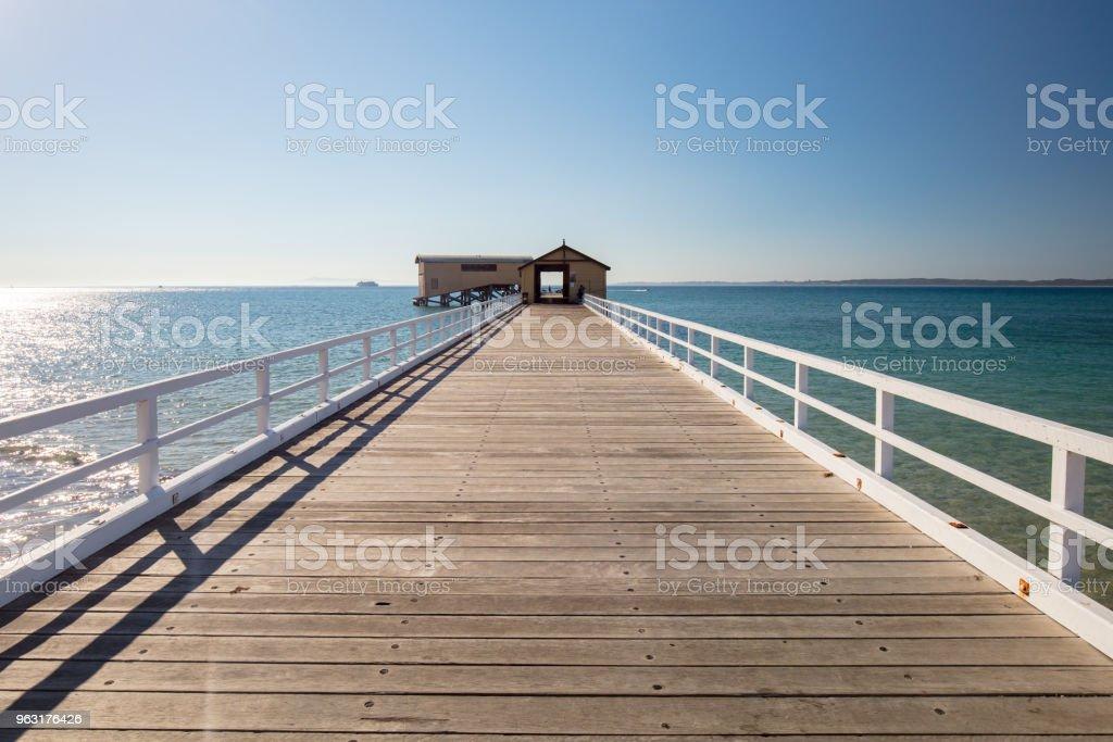 Queenscliff Pier Jetty stock photo