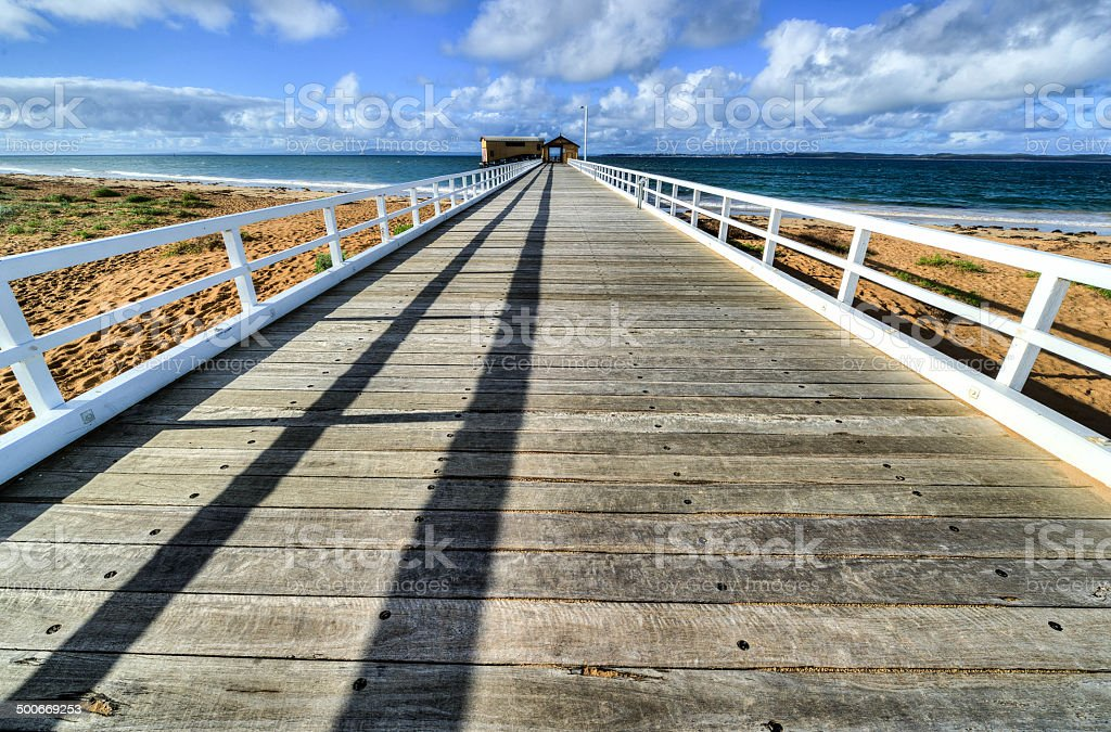 Queenscliff Pier stock photo