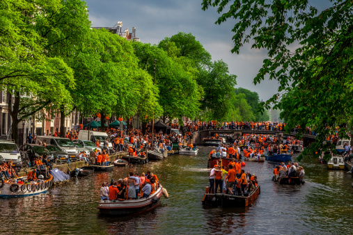 Queensday In Amsterdam Stock Photo - Download Image Now