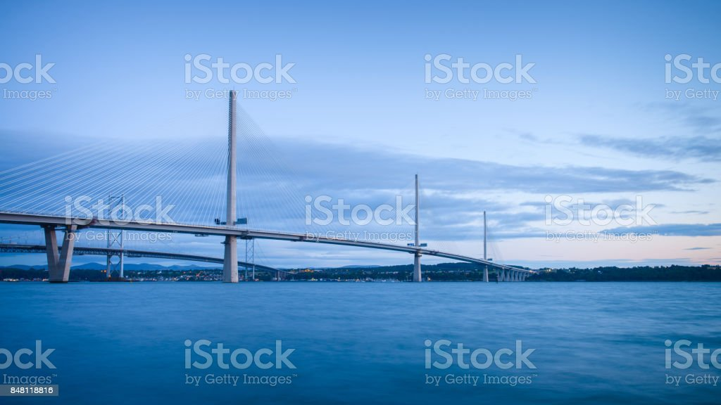 Queensferry Crossing Suspension Bridge stock photo