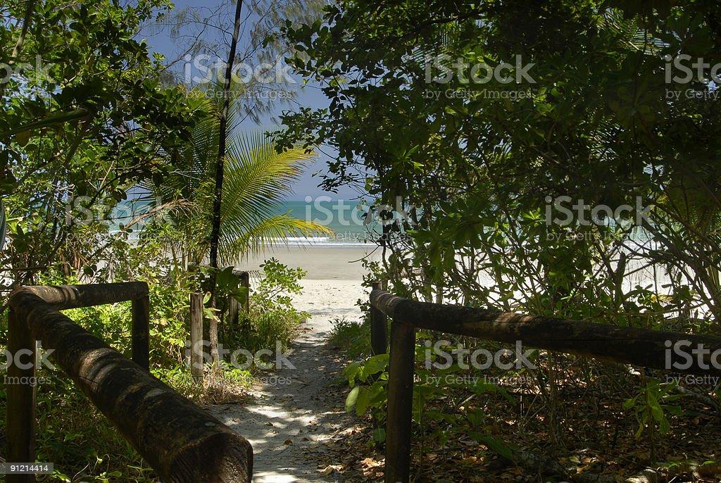 Queensland Beach royalty-free stock photo
