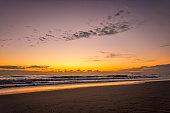 Sunrise over the Pacific Ocean in Queensland's Sunshine Coast