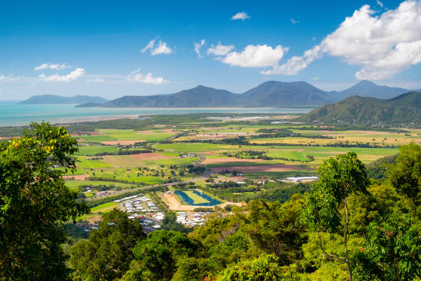 Queensland Landscape, Elevated View stock photo
