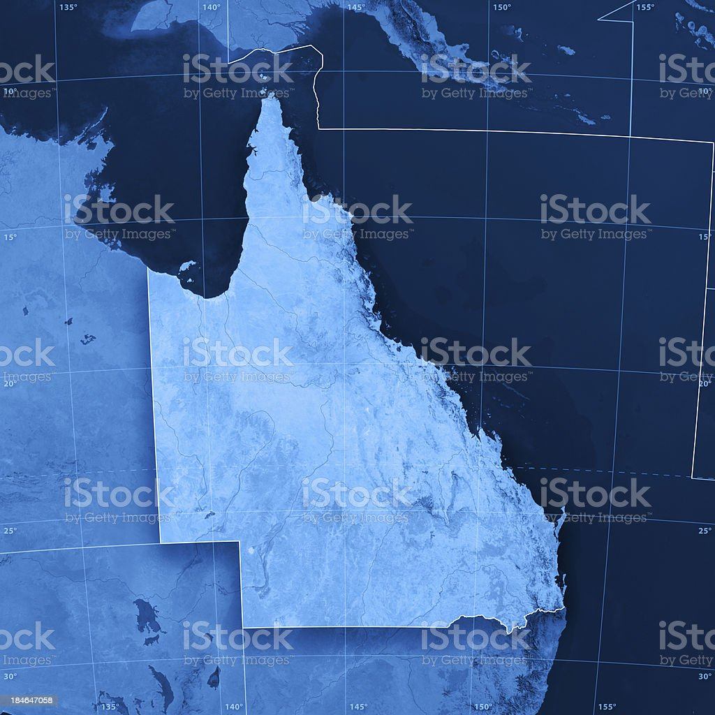 Queensland Topographic Map stock photo