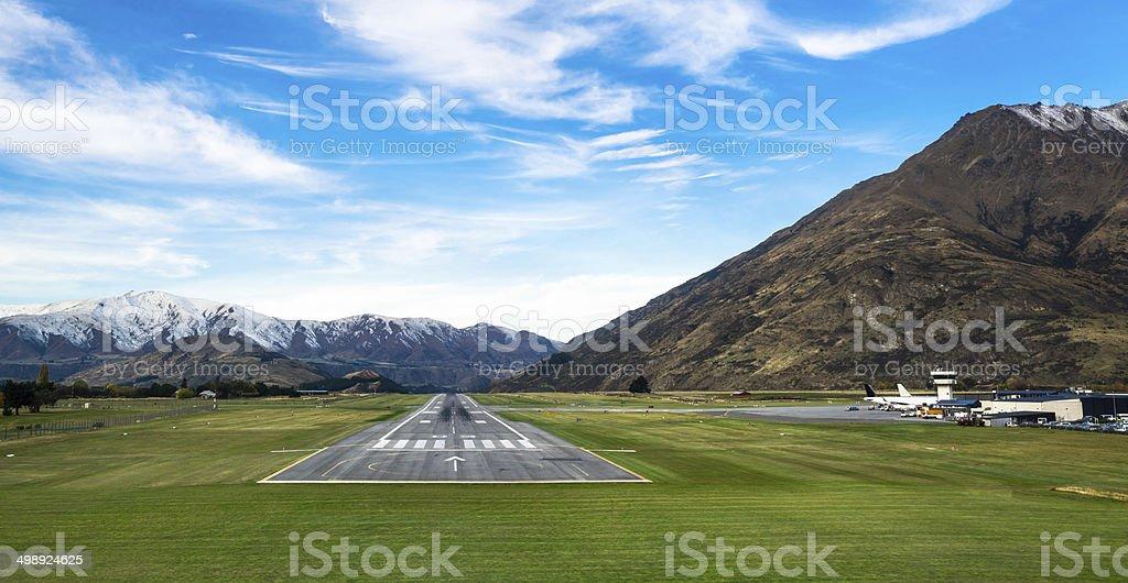 Queenstown airport stock photo