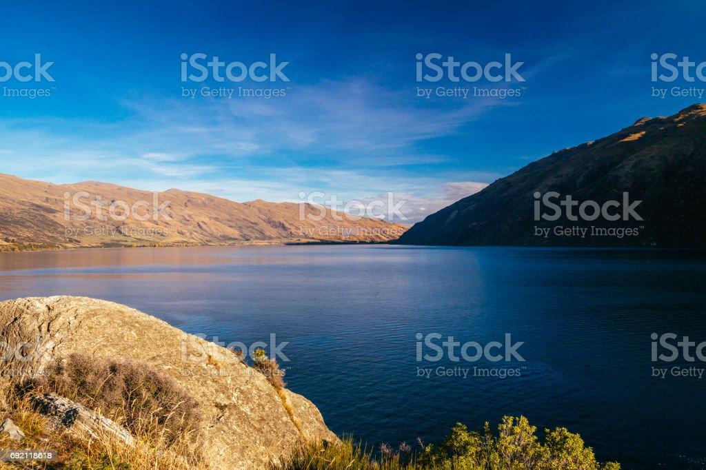 Queenstown, Lake Wakatipu, Otaga, New Zealand stock photo
