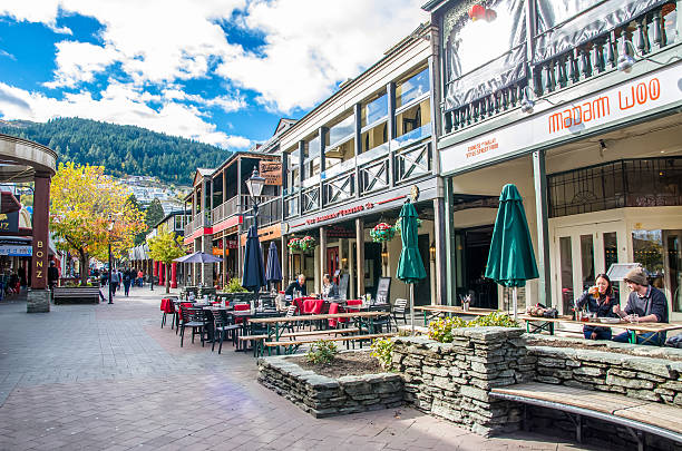 Queenstown mall is the popular landmark in New Zealand, stock photo