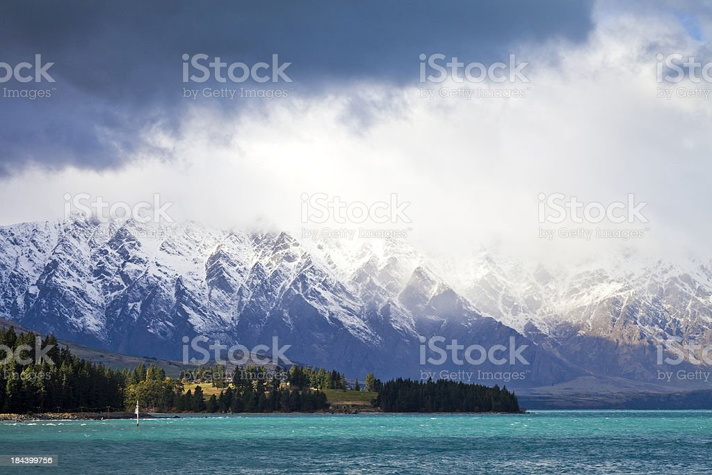 Queenstown mountain range, New Zealand stock photo