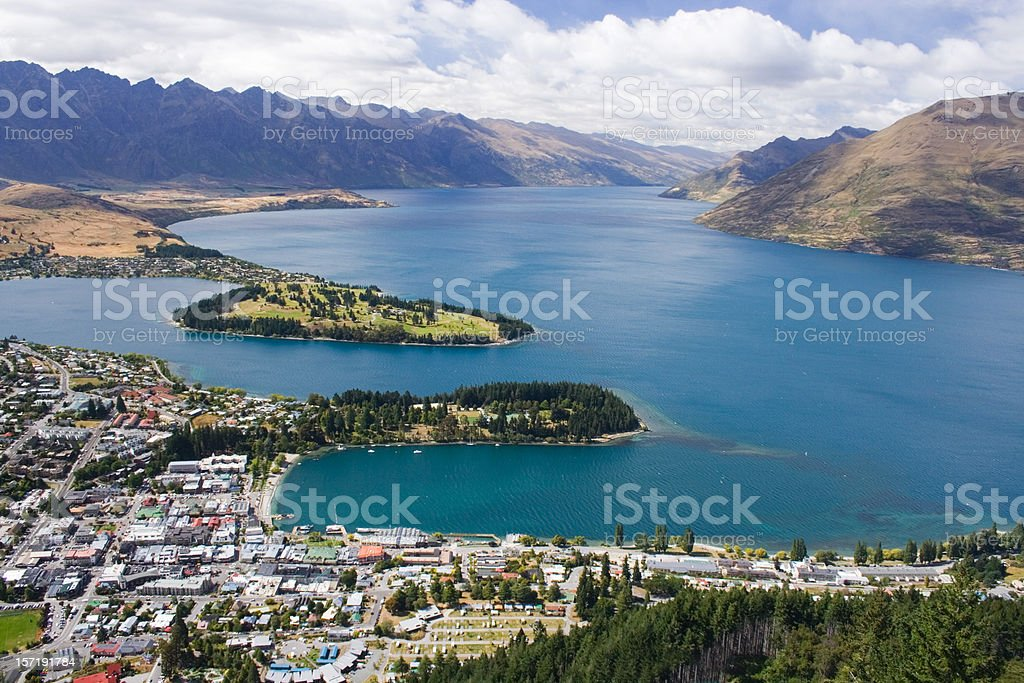 Queenstown, New Zealand royalty-free stock photo