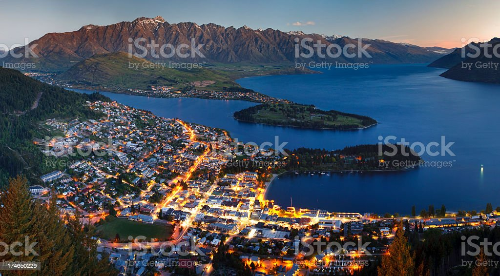 Queenstown, New Zealand, South Island stock photo