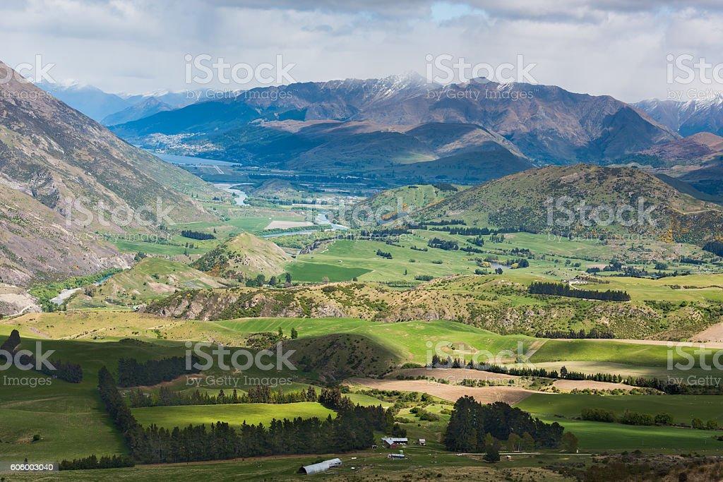 Queenstown NewZealand stock photo