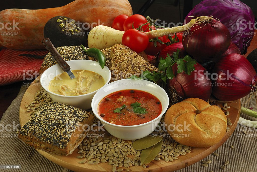 quenelles soup royalty-free stock photo