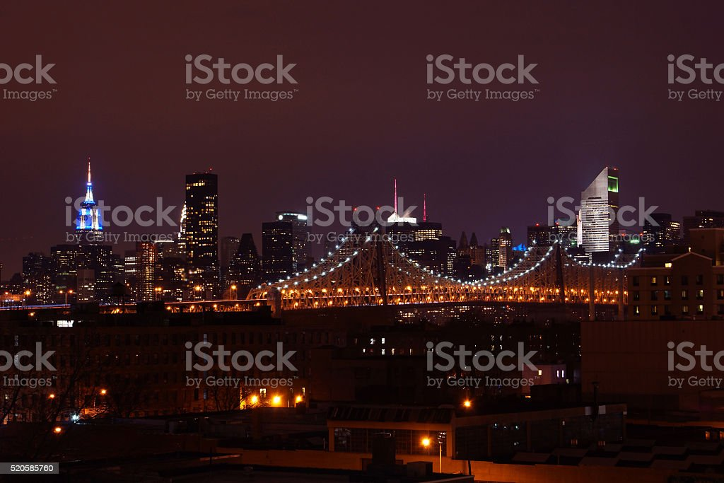 Quennsboro bridge and city stock photo
