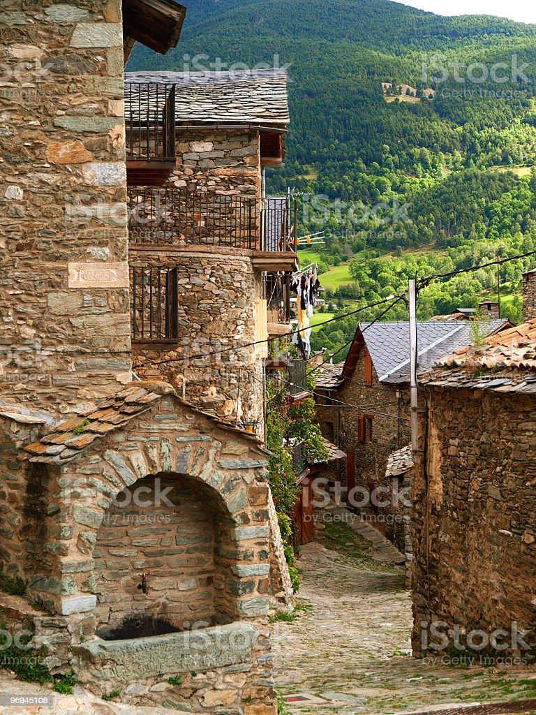Queralbs village royalty-free stock photo