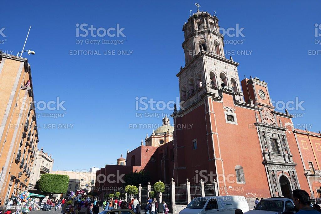 Queretaro Cathedral royalty-free stock photo