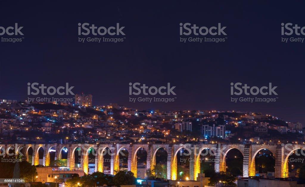 Queretaro City at Night stock photo