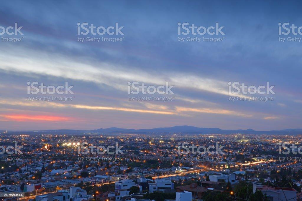 Queretaro City by Night stock photo