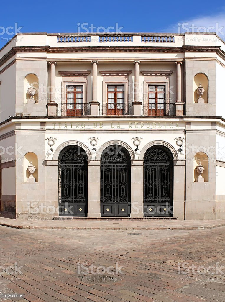 Queretaro - Teatro de la Republica royalty-free stock photo