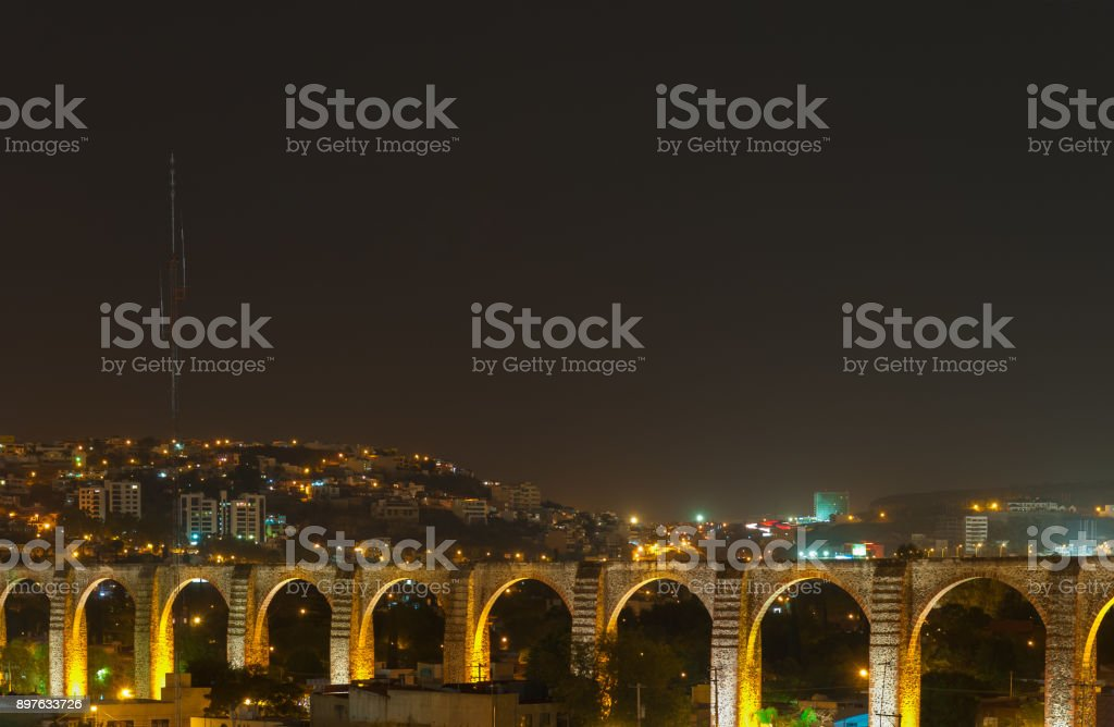 Queretaro Viaduct Bridge stock photo