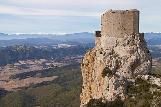 Queribus Castle stock photo
