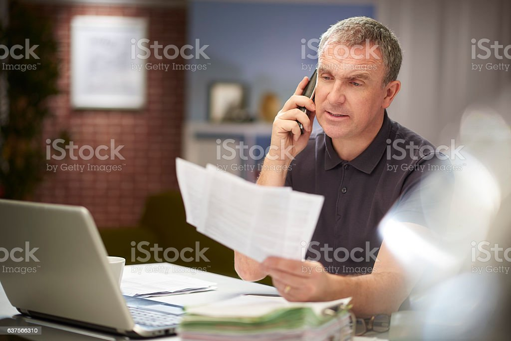 querying an invoice stock photo