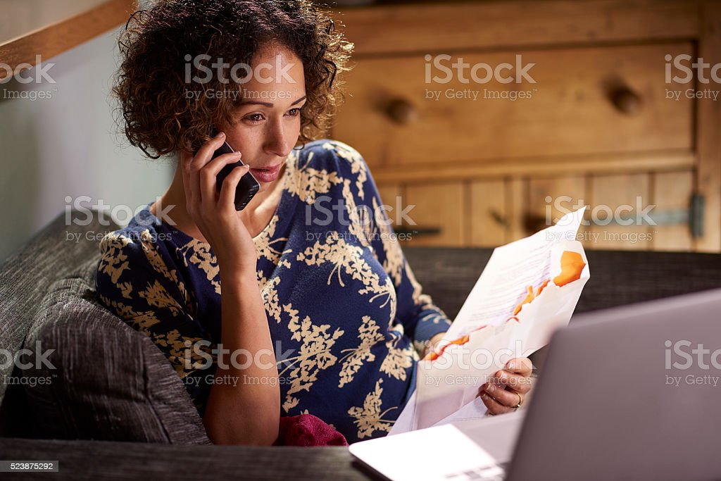 querying that bill stock photo