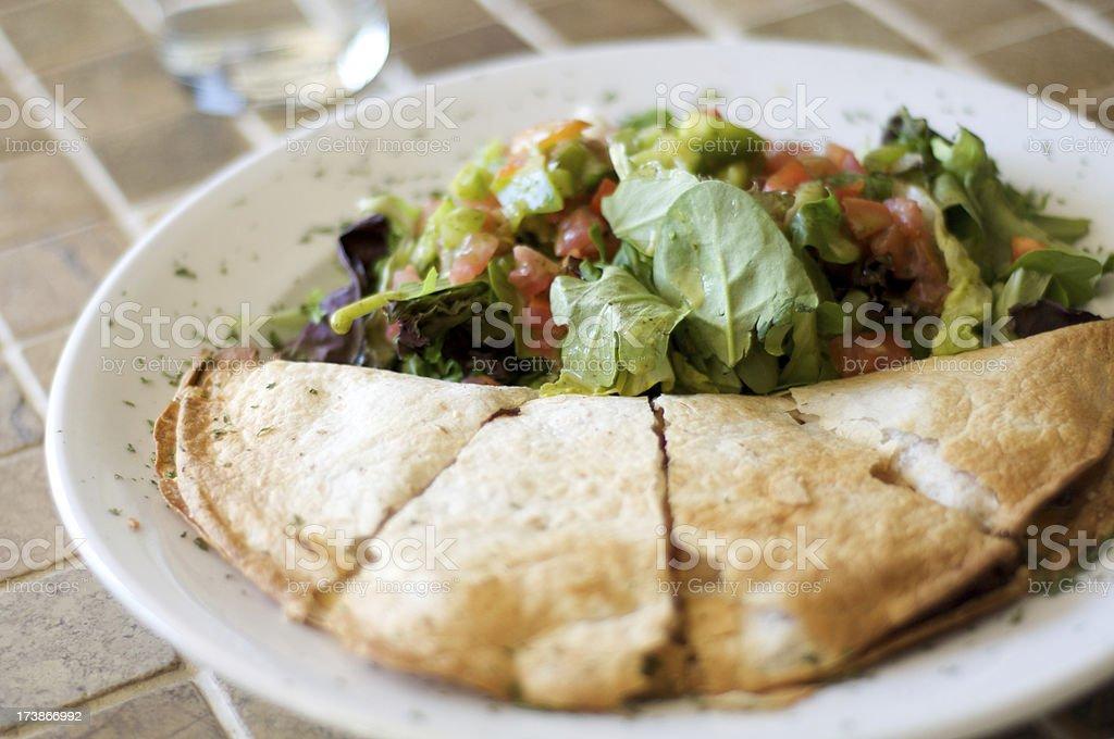 Quesadilla Lunch royalty-free stock photo