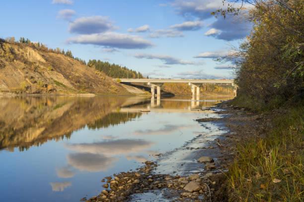 Quesnell Bridge, Edmonton stock photo