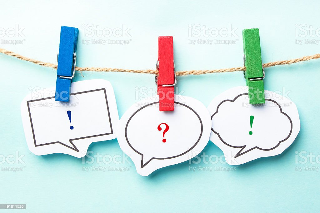 Question and answer stock photo