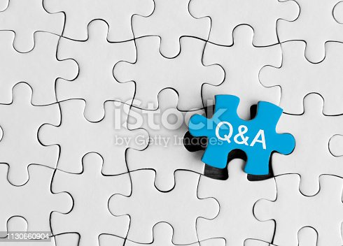 istock Question and answer, Puzzle concept. 1130660904