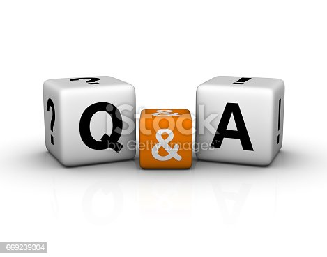 istock Question and Answers cubes symbol 669239304