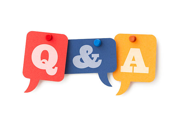 Question and Answers on speech bubbles Question and Answers on speech bubbles. Isolated on a pure white background, no dot in the white area so no need to cut-out e.g. can be dropped directly on to a white web page seemlessly. faq stock pictures, royalty-free photos & images