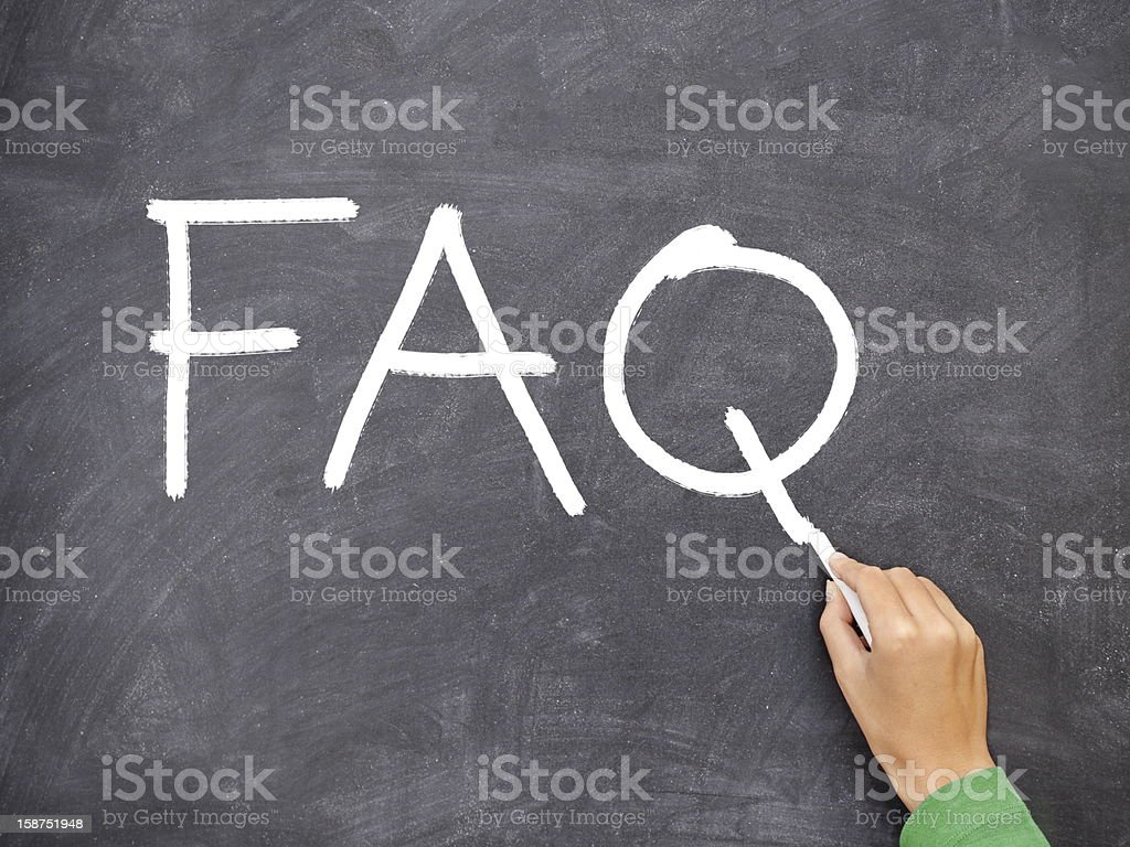 FAQ, question blackboard royalty-free stock photo
