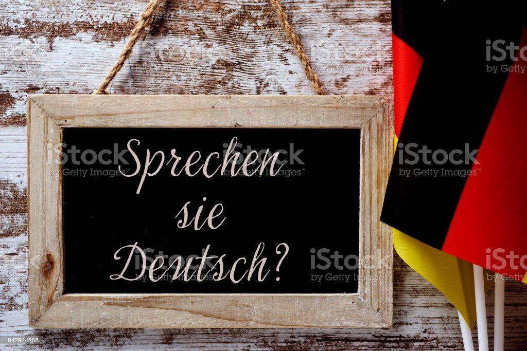 question do you speak German? in German stock photo