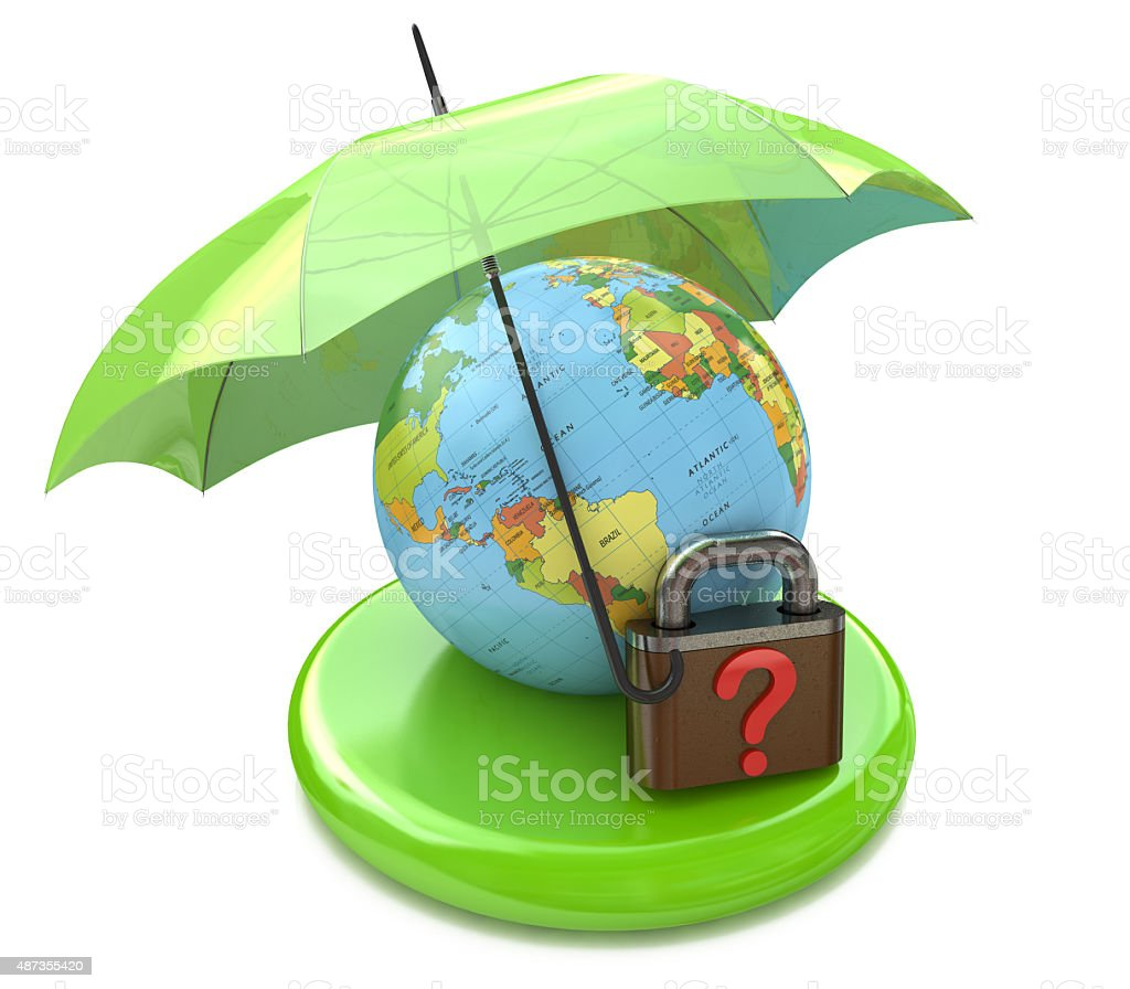 Question global security stock photo