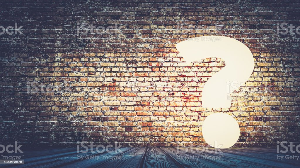 Question hard concept. 3d rendering stock photo