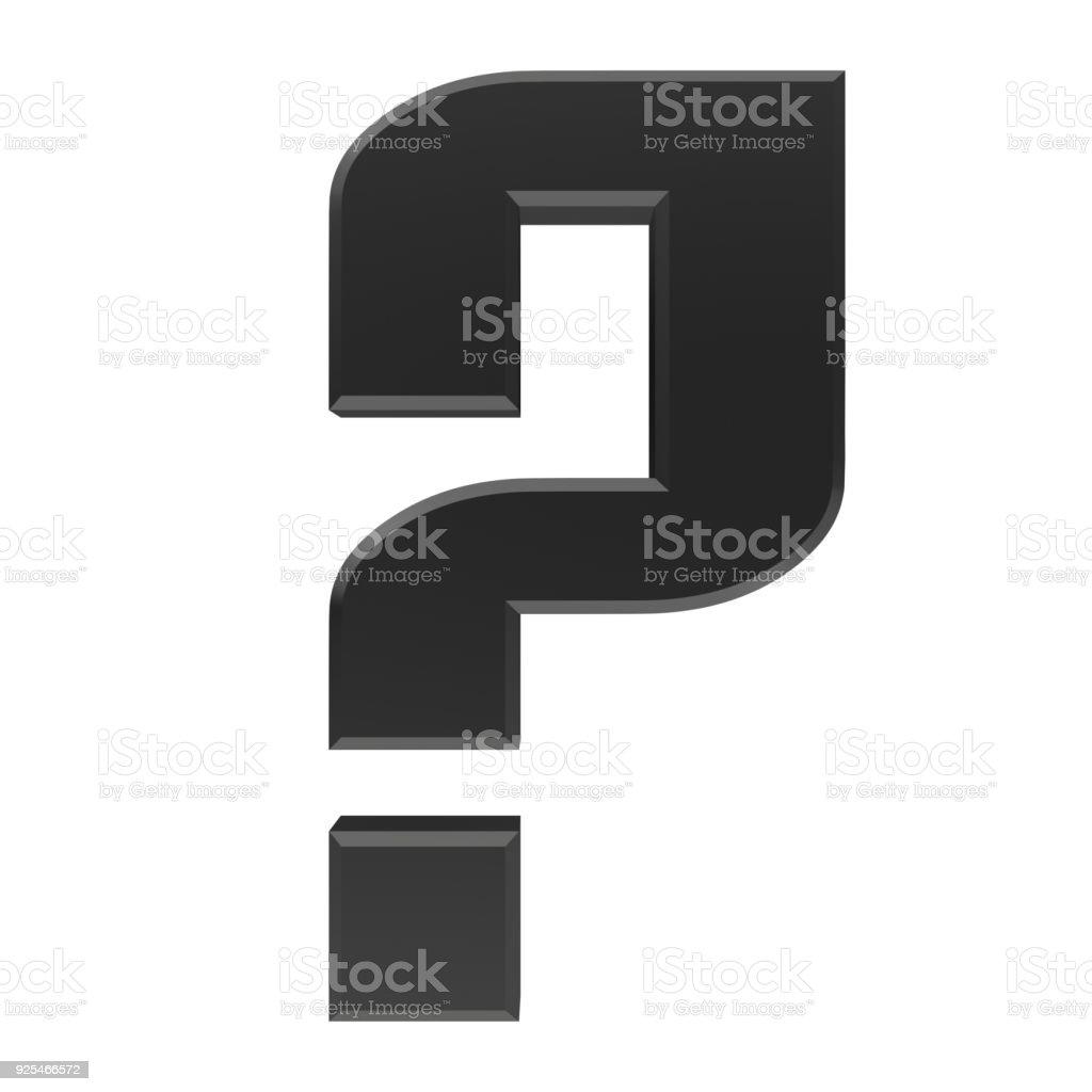 Question Mark 3d Black Interrogation Point Asking Sign Symbol Icon ...