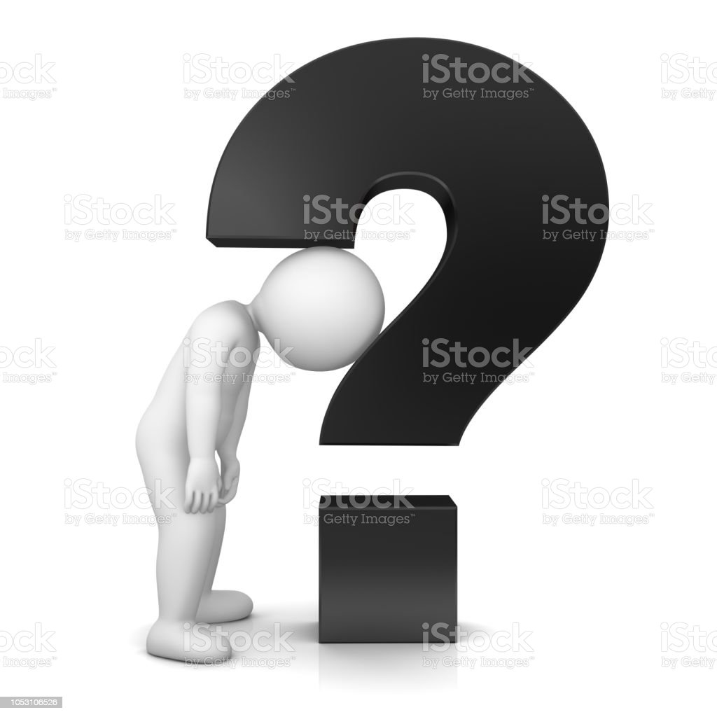 Royalty Free Question Mark People Three Dimensional Shape ...