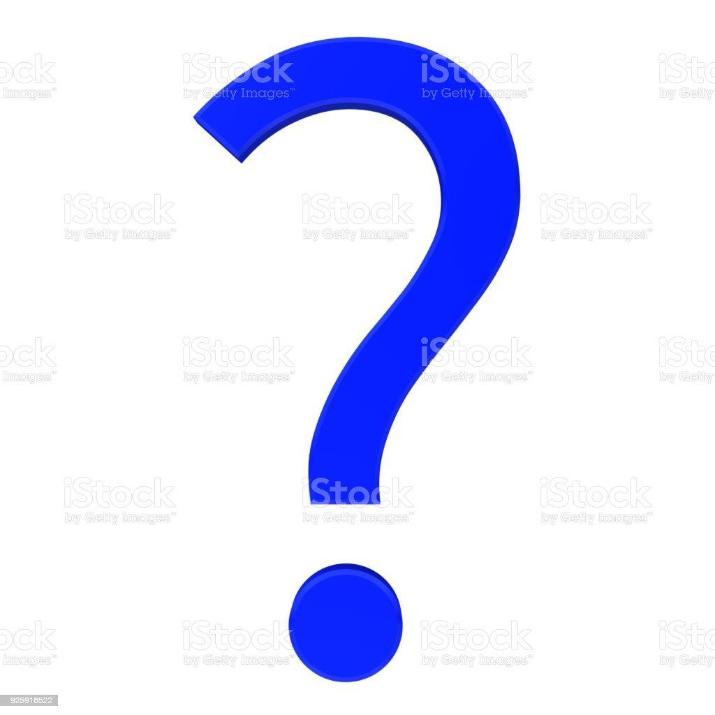 Question Mark 3d Blue Questionnaire Symbol Interrogation Point