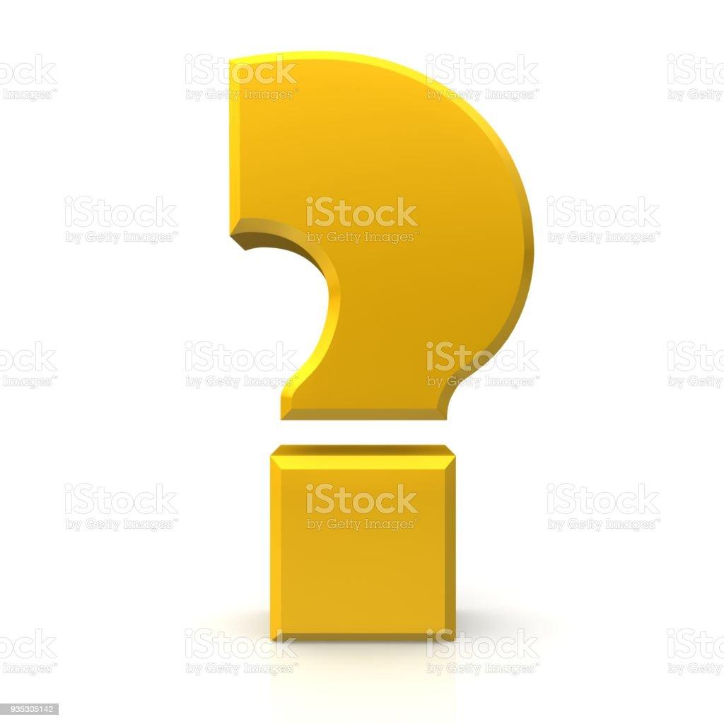 vraagteken 3d goud gele ondervraging punt foto