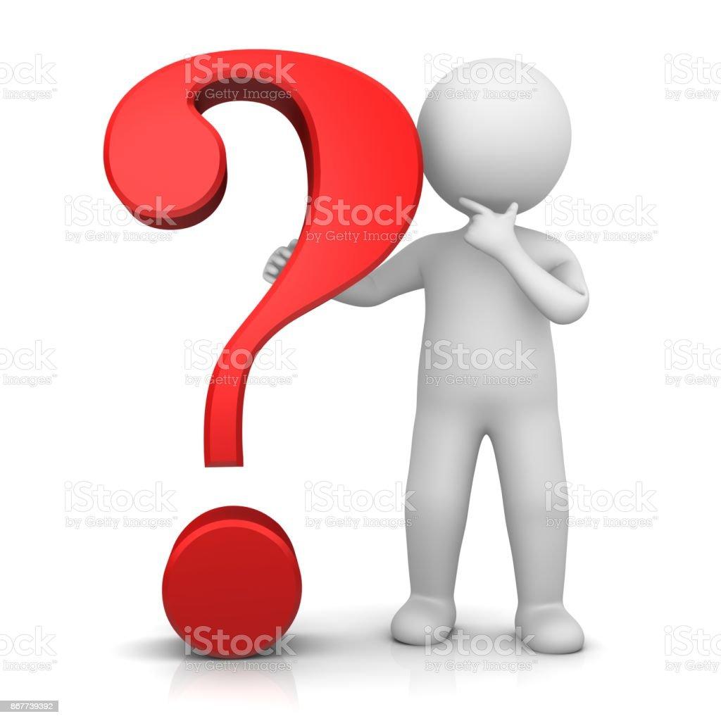 Fragezeichen 3d Rot Verhör Punkt Frage Zeichen Symbol Symbol Mit ...
